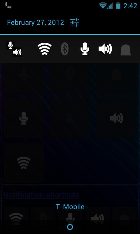 Toggles (LED flashlight etc)- screenshot
