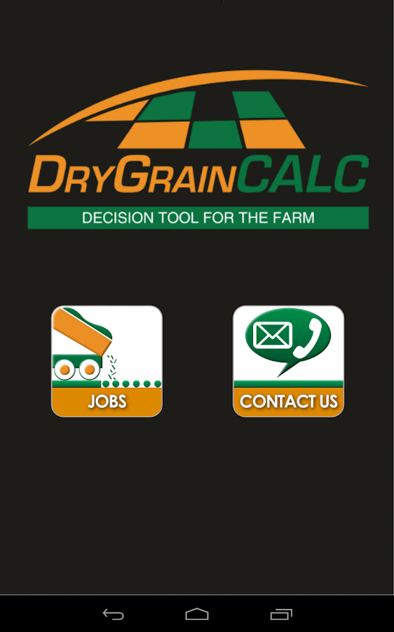 Dry Grain Calculator - screenshot