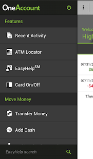 Higher One Mobile Banking App - screenshot thumbnail