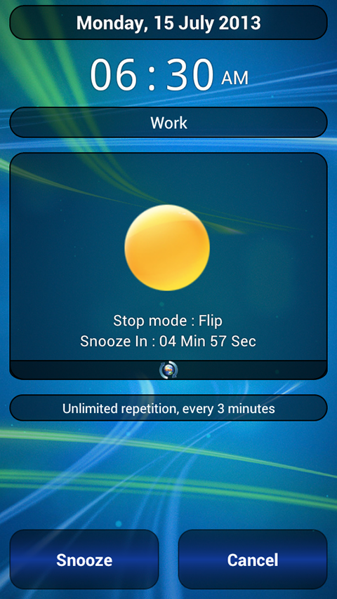 Alarm Clock, Stopwatch & Timer - screenshot