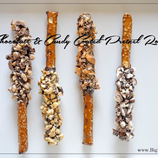Chocolate & Candy Coated Pretzel Rods.