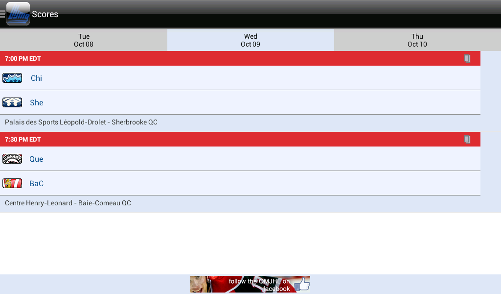QMJHL - screenshot