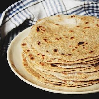 Home-Made Whole Wheat Flour Tortillas.