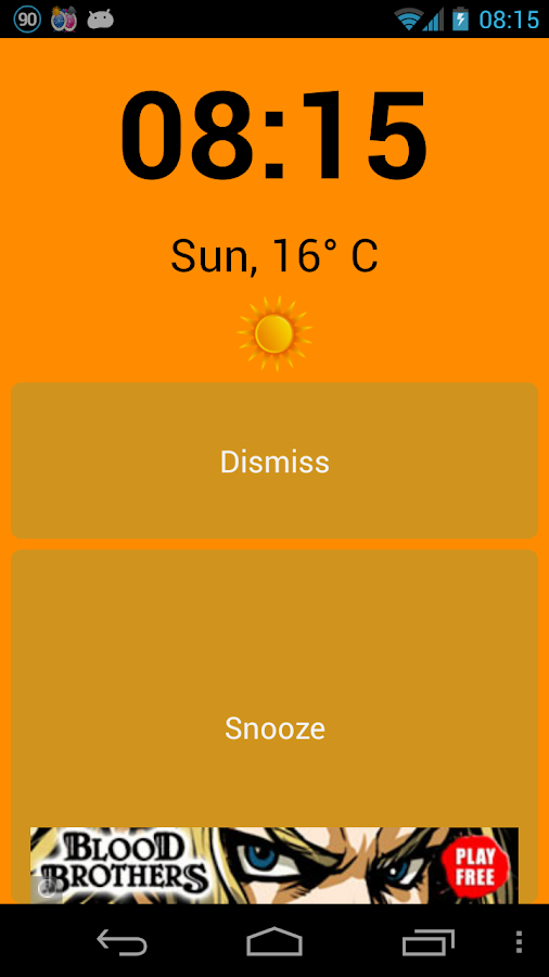 Alarm Weather (Alarm Clock)- screenshot