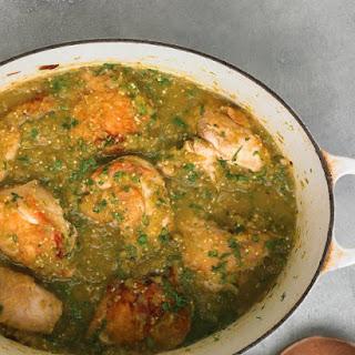 Tomatillo Chicken.