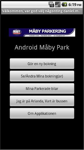 Måby Parkering