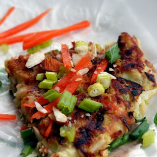 "Okonomiyaki aka ""Japanese Pizza""."
