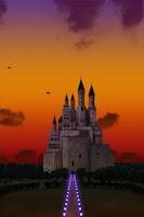 Screenshot of castle and sky LWallpaper Free
