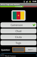 Screenshot of Africa Flags and Nationals