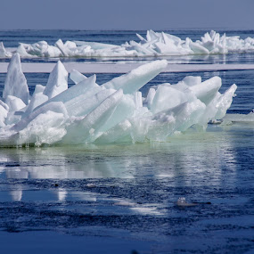 Lake Superior Breakup by Tammy Drombolis - Landscapes Waterscapes (  )