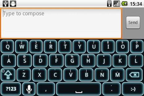 Glow Legacy Keyboard Skin- screenshot thumbnail