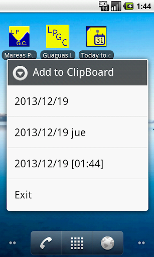 Today to clipboard