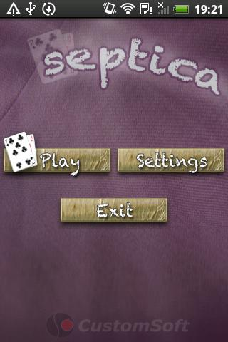 Septica Card Game - screenshot