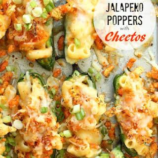 Jalapeno Poppers with Mac and Cheese Cheetos.