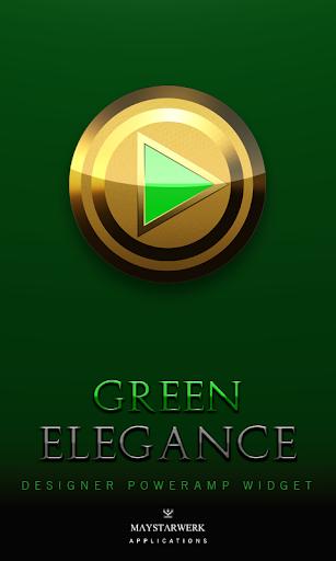 Poweramp Widget Green Elegance