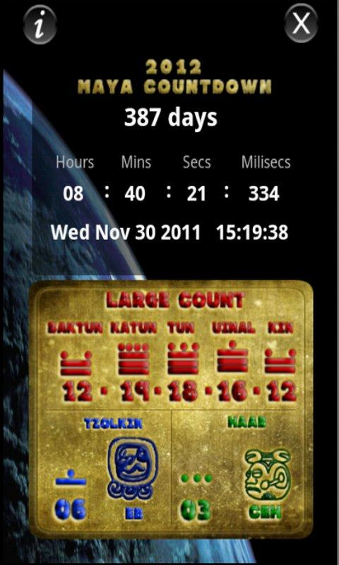 2012 Maya Countdown - screenshot
