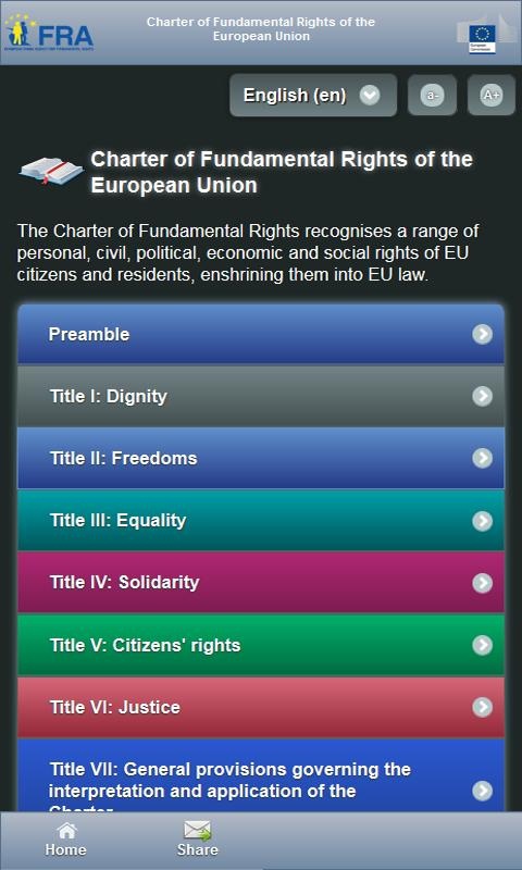 EU Charter - screenshot