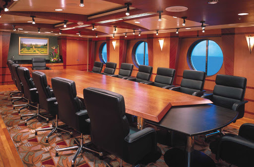 Voyager-of-the-Seas-board-room - Voyager of the Seas' board room and conference center offer all the professional amenities you'll need for your next company business trip.