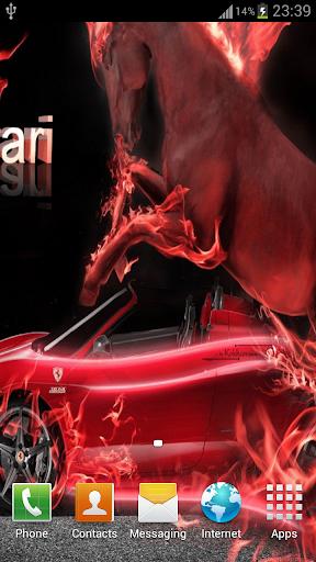 3D Fire Car Wallpaper