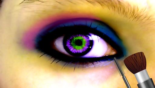 眼睛化妝沙龍遊戲