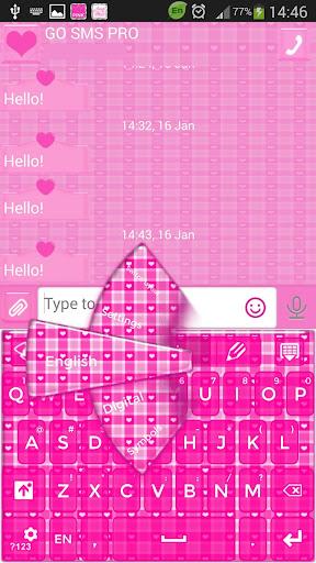 GO短信加强版粉红