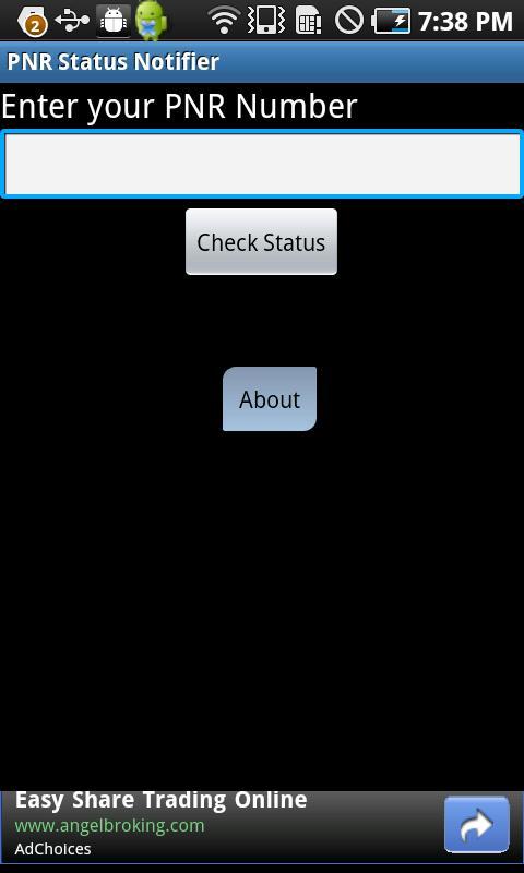 PNR Status Notifier- screenshot