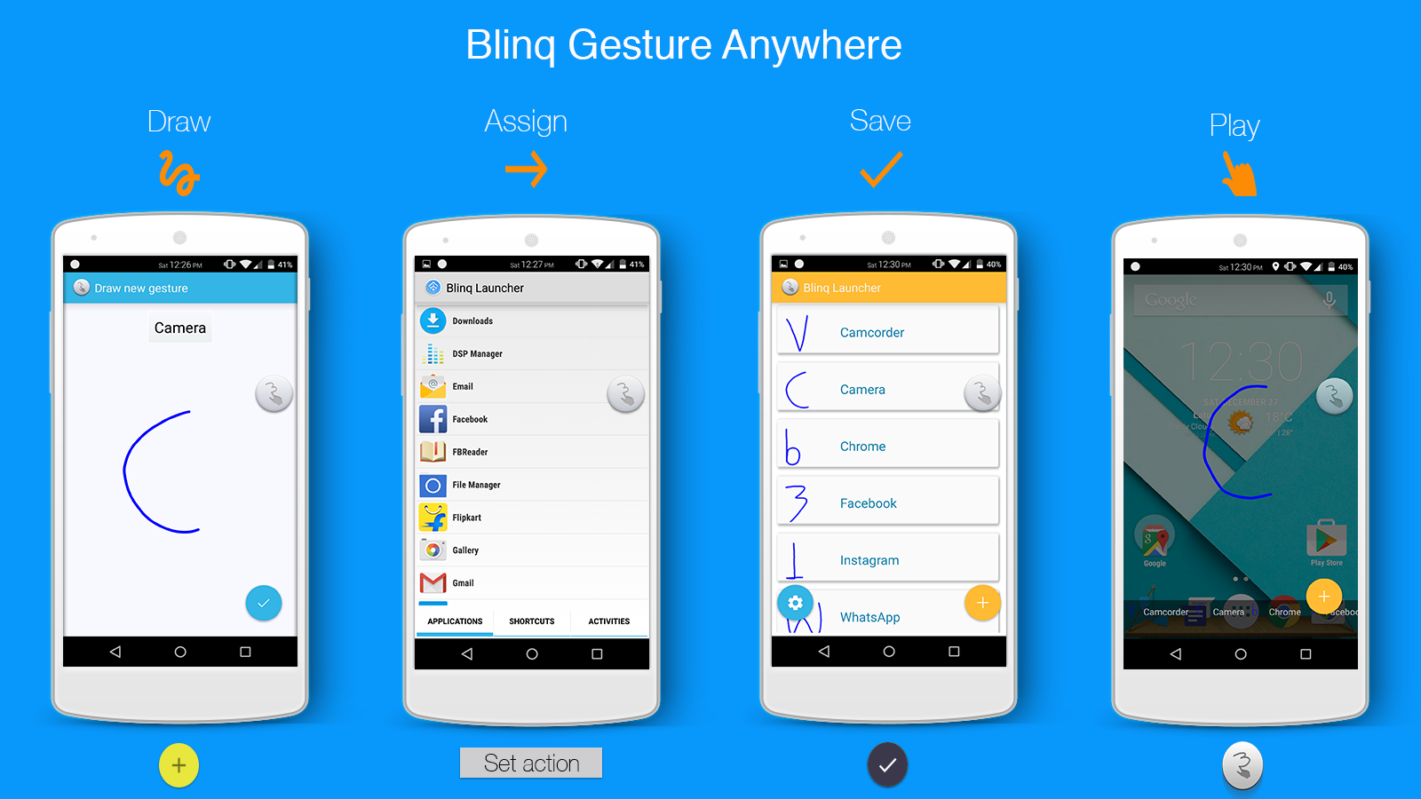 Blinq Lollipop Launcher- screenshot