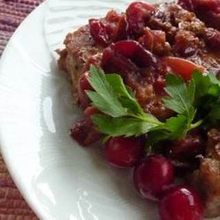 Simmered Cranberry Pork Chops