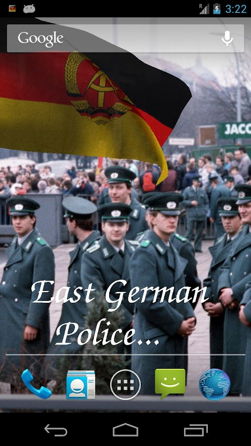 East Germany Flag LWP - screenshot