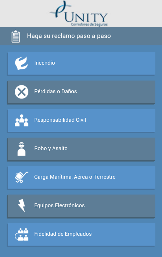 Unity Seguros- screenshot