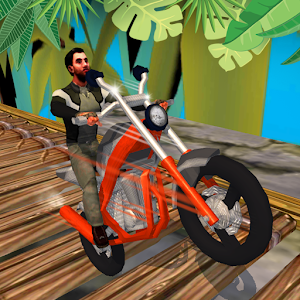 Motorcycle Stunt Jungle Race for PC and MAC