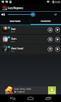 Screenshot of Scary Ringtones