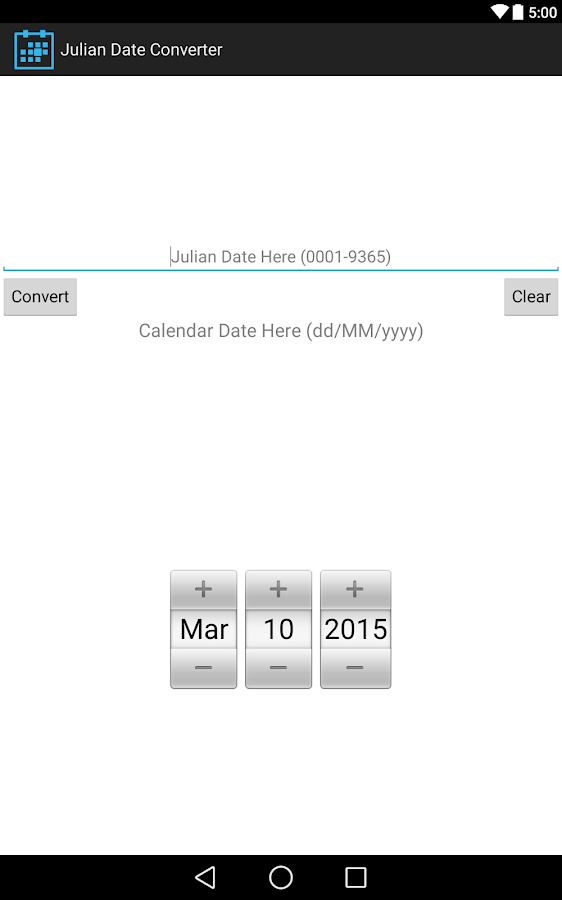 Julian Date Converter - Android Apps on Google Play
