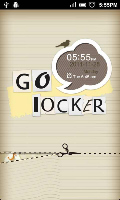 GO Locker Paper-cut Theme - screenshot