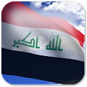 3D Iraq Flag Live Wallpaper + logo