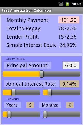Fast Amortization Calculator - screenshot
