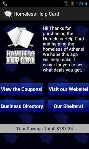 Homeless Help Card
