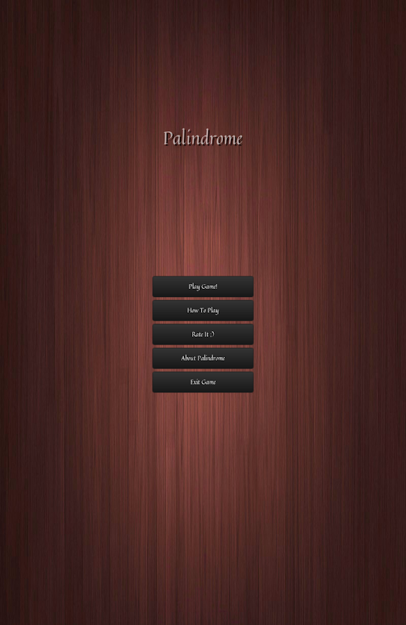 Palindrome- screenshot