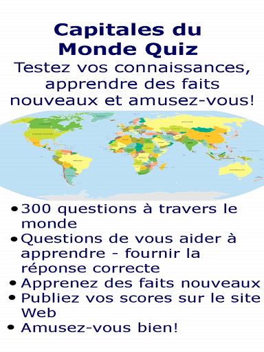 Pays du Monde + Capitales Quiz