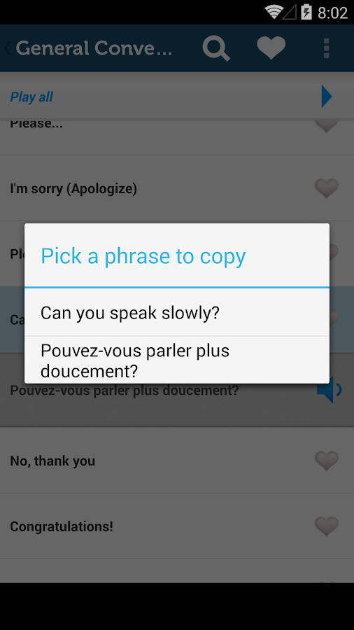 Learn French Phrasebook Pro - screenshot