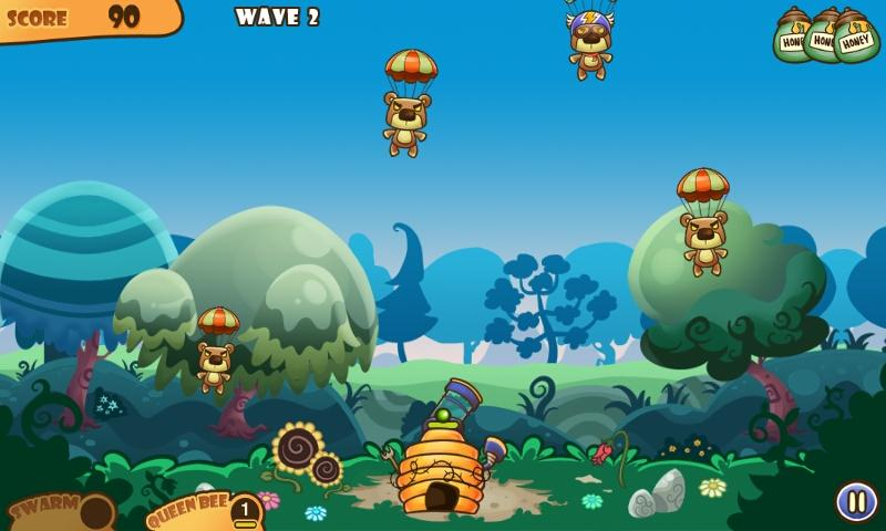 Honey Battle - Hungry Bears vs Crazy Bees!- screenshot