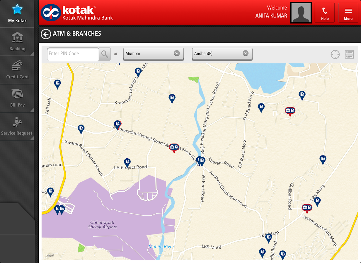 Kotak Bank for Tablet- screenshot