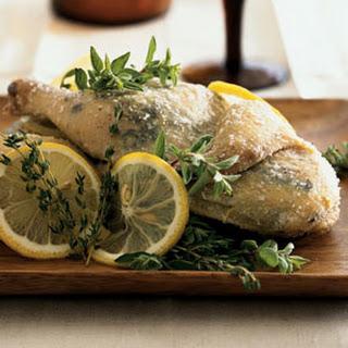 Salt-Crusted Herbed Cornish Hen