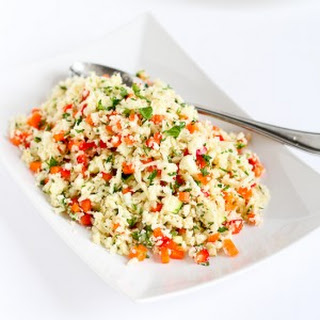 Grated Cauliflower Salad with Ginger Lime Dressing.