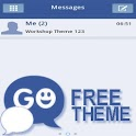 GO SMS Theme Blue White icon