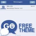 GO SMS Theme Blue White icon