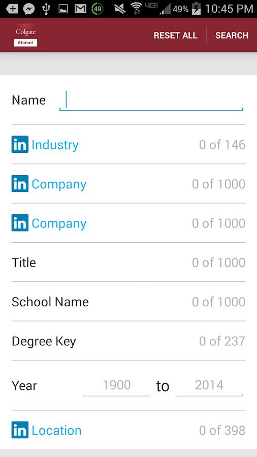 Colgate Alumni Directory - screenshot