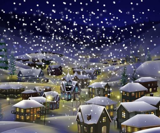 聖誕之夜的城市壁紙