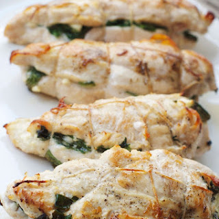 Feta & Spinach Stuffed Chicken Breast.