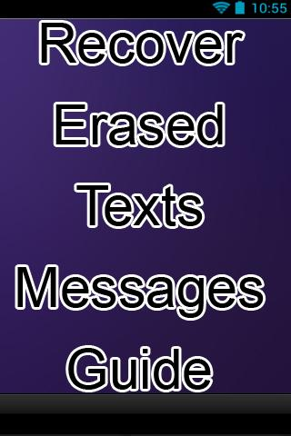 Recover Erased Texts Messages